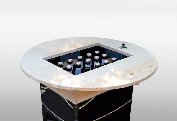 Bierkastenaufsatz natur lackiert (montiert)